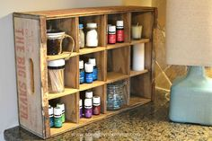 Repurposed Vintage Crate, great  place to display and store your Young Living Essential Oils
