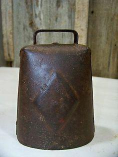 Antique Metal Milk Cow Bell Old Vintage Dairy Farm Tool Rustic Barn Decor   eBay