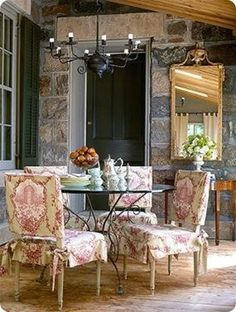 The look of these chairs would be incredible for a smaller intimate wedding...