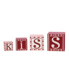 Take a look at this 'Kiss' Nested Block Set by Transpac Imports on #zulily today!