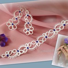 Cheap Silver Rings For Women Tatting Armband, Tatting Bracelet, Tatting Earrings, Tatting Jewelry, Lace Jewelry, Tatting Lace, Crochet Bracelet, Jewelry Model, Jewelry Sets