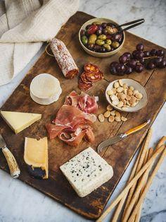 Tabla de embutidos y quesos