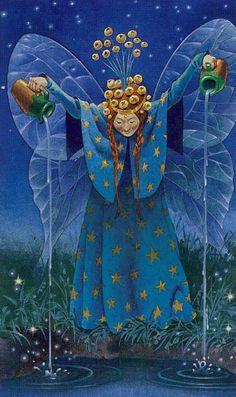 The Naiad (The Star) - Fairy Tarot (Antonio Lupatelli)  --  If you love Tarot, visit me at www.WhiteRabbitTarot.com