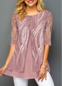 Stylish Tops For Girls, Trendy Tops, Trendy Fashion Tops, Trendy Tops For Women Page 2 Trendy Tops For Women, Stylish Tops, Casual Tops, Ladies Dress Design, Plus Size Tops, Half Sleeves, Short Sleeve Blouse, Fashion Dresses, Tops Online