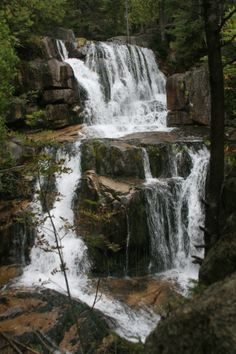 Katahdin Falls, Baxter State Park, Maine. Great place to cool off after completing the Hunt Trail!