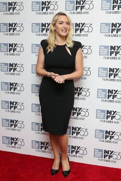 """Kate Winslet wears a Tom Ford sheath dress at the New York Film Festival's""""An Evening with Kate Winslet"""" event."""