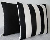 Black and white stripes cushion cover, contemporary designer fabric slip cover, throw pillow, decorative cushion, accent pillow