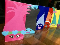 Trolls Printables for Gift Sacks #partyfavor #trolls