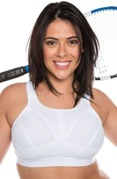782c229a3b Ladies Plus Size Sports Bra White High Impact Non Wired Large Cups 34-46  D-J New