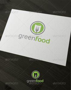 Green food - Logo Design Template Vector #logotype Download it here: http://graphicriver.net/item/green-food/1666573?s_rank=619?ref=nesto