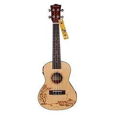 """Kmise Soild Spruce Ukulele 24"""" Electro-Acoustic Concert Ukulele Hawaii Guitar Kmise® http://www.amazon.com/dp/B010DEZ5UM/ref=cm_sw_r_pi_dp_VAakwb1Z8G5TP"""