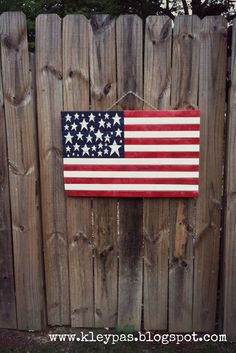 this & that: Wood American Flag