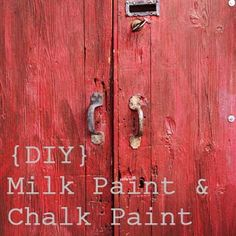Milk paint and chalk paint recipes