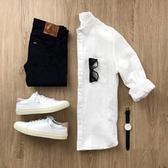 Monday work outfit for men Smart Casual Wear, Casual Wear For Men, Casual Chic, Monday Outfit, Trendy Outfits, Fashion Outfits, Moda Blog, Men With Street Style, Gq Style