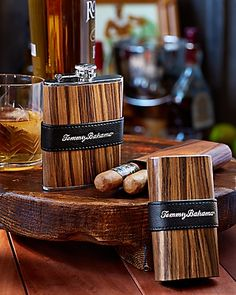 Tommy Bahama - Cigar Case and Flask Gift Set Tommy Bahama Beach Chair, Cigar Cases, Cigar Accessories, Beach Gear, Cigars And Whiskey, All Gifts, Groomsman Gifts, Long Weekend, Flask