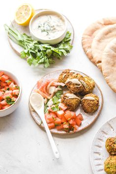 This Falafel recipe is easy, gluten-free, and naturally vegan! It's packed with fresh herbs and flavor and you can prepare it in the oven, on the stovetop, or with an air fryer! #vegan #plantbased #falafel #glutenfree #oilfree #mealprep #healthyrecipes #chickpeas #veggieburger via frommybowl.com