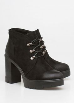 Abby block heel boot, μαύρο