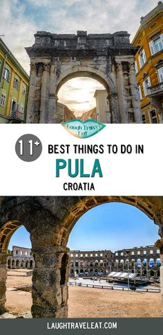 Pula, Croatia not only has one of the best preserved amphitheater in the world, but also amazing cuisine and other stunning Roman ruins. Here are the best things to do there Croatia Travel, Thailand Travel, Bangkok Thailand, Hawaii Travel, Italy Travel, Lokrum Island, Split Croatia, Lake Bled, Holiday Destinations