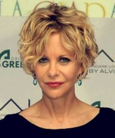 blonde shaggy curls for women over 60
