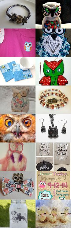 Cute OWLS for all~ by Diane Negron on Etsy--Pinned+with+TreasuryPin.com