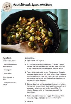 #CookClub Recipe:  Roasted Brussel Sprouts With Bacon