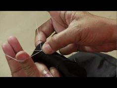 Sewing a French tack - method of loosely anchoring garment to lining