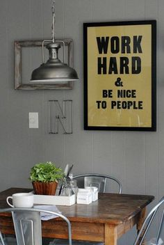 I want a sign like that in my kitchen!
