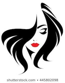 Immagini, foto stock e grafica vettoriale simili a tema illustration of women short hair style icon, logo women face on white background, vector - 512599735 Silhouette Art, Woman Silhouette, Hair Vector, Woman Illustration, 3d Prints, Woman Drawing, Woman Face, Easy Drawings, Black Art