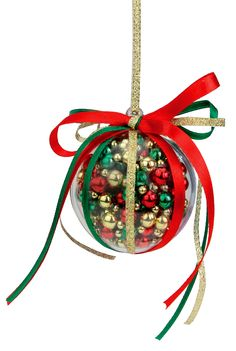 Nicole™ Crafts Red, Green and Gold Bubble Ornament #ornaments #craft #christmas