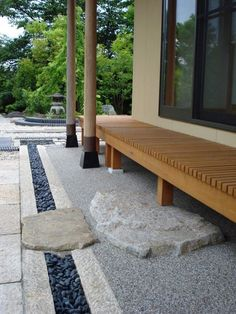 Step down from a wraparound porch into a Japanese garden. Step down from a wraparound porch into a Japanese garden. Small Japanese Garden, Japanese Tea House, Japanese Garden Design, Japanese Landscape, Japanese Gardens, Japan Garden, Outdoor Living, Outdoor Decor, Rustic Outdoor