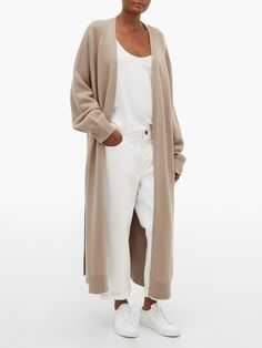Long Cardigan Outfit Summer, Long Sweater Outfits, Long White Cardigan, Belted Cardigan, Cashmere Cardigan, Long Sweaters, Long Cardigan Sweater, Longline Cardigan, Floor Length Cardigan