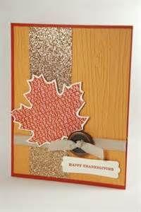 Happy Thanksgiving Fall Leaf Handmade Greeting Card