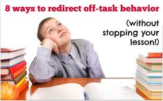You know you got your classroom management game on point when you can redirect off task behavior with success. So here are 8 intervention strategies to help your student refocus without stopping your lesson. Behavior Plans, Classroom Behavior Management, Classroom Procedures, Student Behavior, Behaviour Management, School Classroom, Classroom Ideas, Management Games, Classroom Organisation