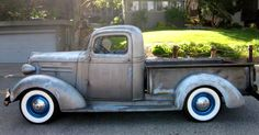 """Today's #TruckTuesday feature is this beautiful 1937 Chevy Pickup owned by JEGS customer, Stephan Huhn. """"I bought it in California and shipped it here to Germany. The motor was converted to 283 V8 and the transmission to a TH-350"""" Beautiful truck Stephan!"""