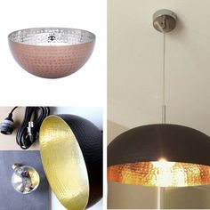 The #copper #Living & Co salad #bowl turned into an #industrial #light? Brilliant. Remember to drill slowly so you don't crack the bowl.  #thewarehousenzhacks #hacks #furniture #upcycled #upcycle #repurpose #NewZealand  #thewarehousenz #interiors #diy #home