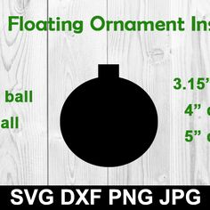 I've had a lot of people asking/looking for these inserts to make floating ornaments so I am posting files with several different sizes. If you do not know what a floating ornament is, your desig Vinyl Ornaments, Picture Ornaments, Ornaments Design, Personalized Ornaments, Glass Ornaments, Cricut Christmas Ideas, Christmas Svg, Christmas Ornaments, Cricut Tutorials