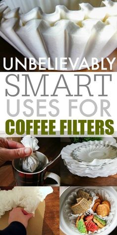 Smart uses for coffee filters around the house!You can find Coffee filters and more on our website.Smart uses for coffee filters around the house! Coffee Filter Uses, Coffee Filter Crafts, Upcycled Crafts, Diy Crafts, Repurposed, Diy Cleaning Products, Cleaning Hacks, Cleaning Supplies, Organization Hacks