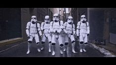 Stormtrooper Humor (animated gif) ~ I'd love to know the song that goes to this