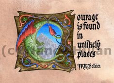 Hey, I found this really awesome Etsy listing at https://www.etsy.com/listing/158764251/print-jrr-tolkien-quote-courage-is-found
