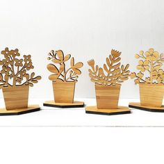 """This small wooden """"house plant"""" makes a perfect accompaniment on your work desk, bookshelf or table top. Bringing the natural charm and organic elegance."""