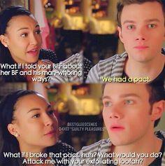 Santana and Kurt