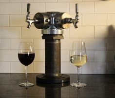 Hey, I found this really awesome Etsy listing at http://www.etsy.com/listing/156928447/custom-tapped-wine-tower-red-white-or