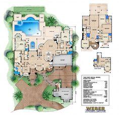 Port Royal Floor Plan | Monster House Plans by Weber Design Group