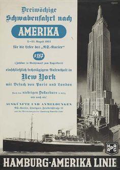 Hamburg - Amerika Linie - Amerika, New York - 1934 - (Theodore Etbauer) -