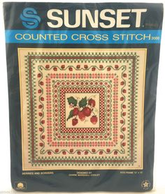 Berries and Borders  Sunset Counted Cross Stitch Kit 12x12 New #Sunset #Picture