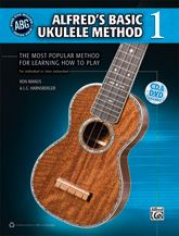 Alfred's Basic Ukulele Method 1 features clear, well-paced instruction that makes learning the ukulele easy and fun. This book covers all the necessities, including how to hold your ukulele, tuning your ukulele, right- and left-hand techniques, the basics of reading music, chords, strumming patterns, songs, and how to read TAB.  #music #learnmusic #ukulele