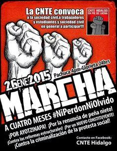 CNTE HIDALGO! LA LUCHA SIGUE! #Ayotzinapa vive!