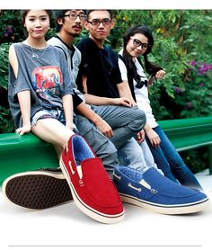 Fashion Red Blue Loafers for Men on Amazon.uk