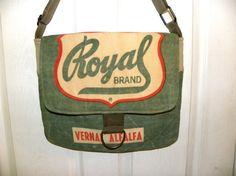 Vintage Royal Vernal Alfalfa seed sack upcycled by LoriesBags