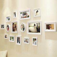 Parede fotos de moda da Parede da foto moldura de Madeira Sólida combinação de moda moldura ACESSÓRIOS parágrafo Casa 18,515